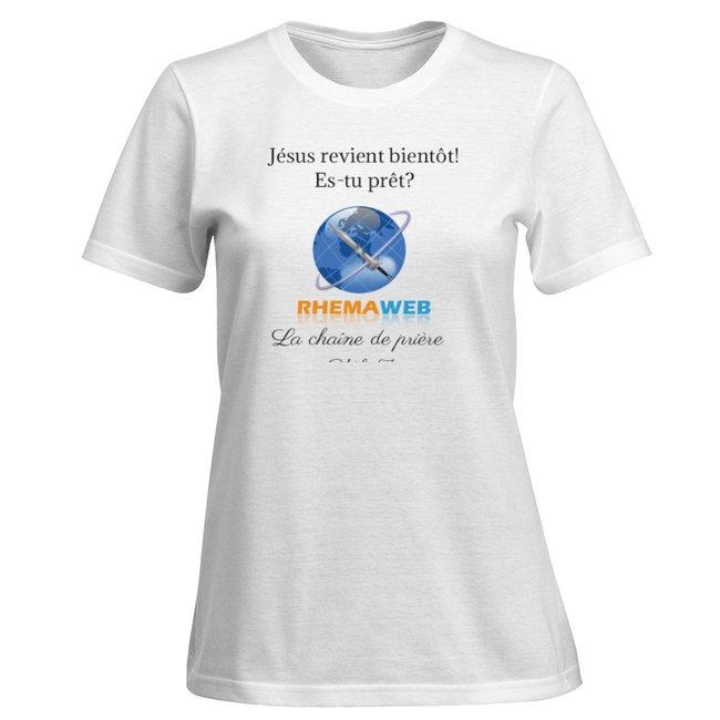 T-shirt blanc pour femme