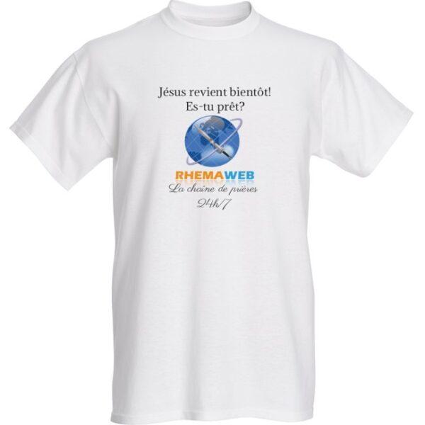 T-shirt blanc chrétien pour homme